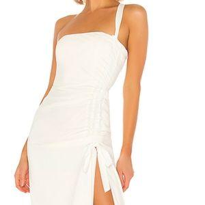 REVOLVE NBD -Anusha Gown  white slit dress